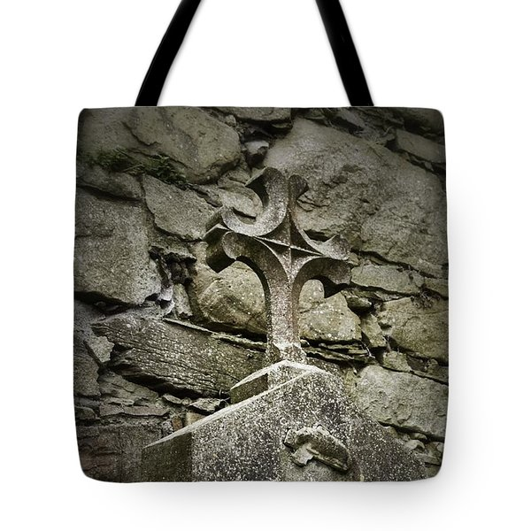 Cloister Cross At Jerpoint Abbey Tote Bag