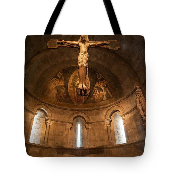 Cloisters Crucifixion Tote Bag