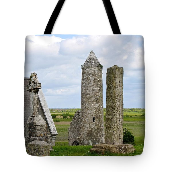 Clonmacnoise Towers Tote Bag by Suzanne Oesterling