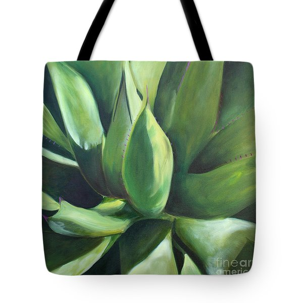 Close Cactus II - Agave Tote Bag by Debbie Hart