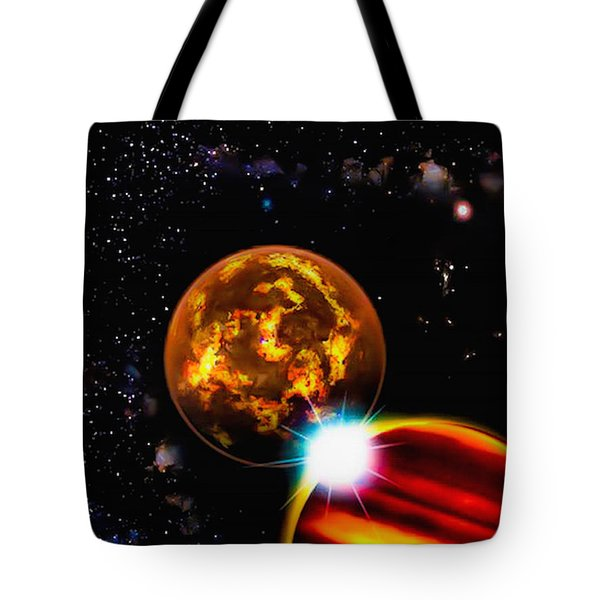 Close Together Far Apart Tote Bag by Naomi Burgess