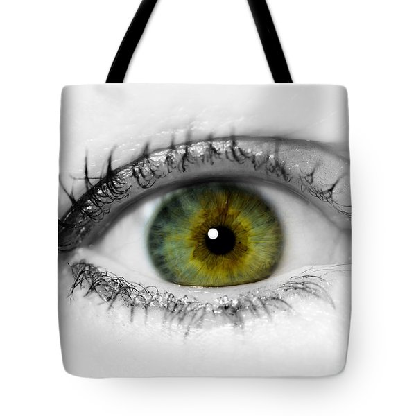 Close Up Eye Tote Bag
