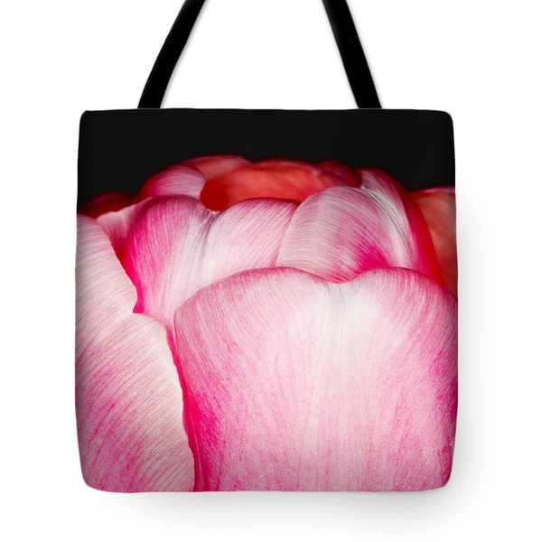 Close-up Of A Pink Tulip Tote Bag