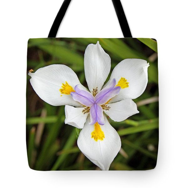 Close Up Of An Iris Tote Bag