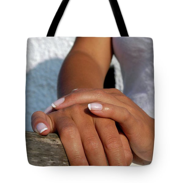 Close Up Of Beautiful Young Female Tote Bag