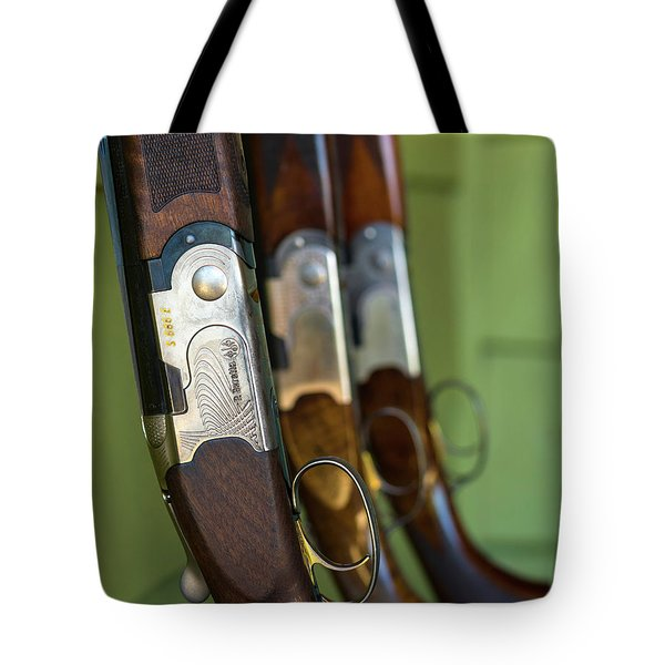 Close-up Of Beretta Shotguns Tote Bag