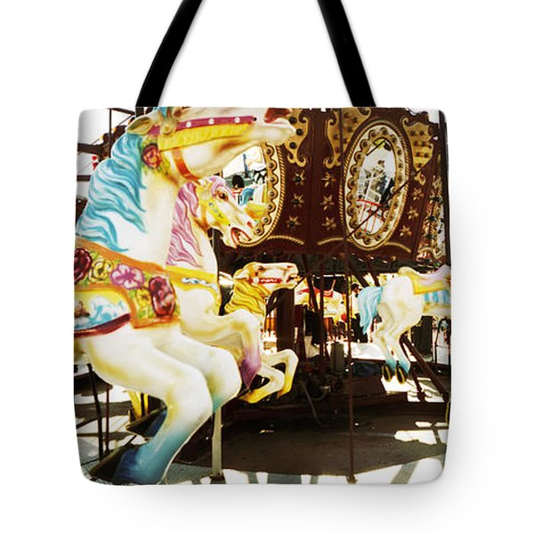 Close-up Of Carousel Horses, Coney Tote Bag