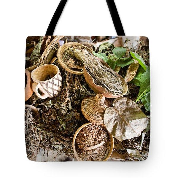 Close-up Of Natural Herbs And Healing Tote Bag