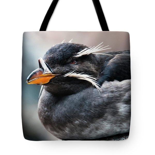 Close-up Of Rhinoceros Auklet Tote Bag