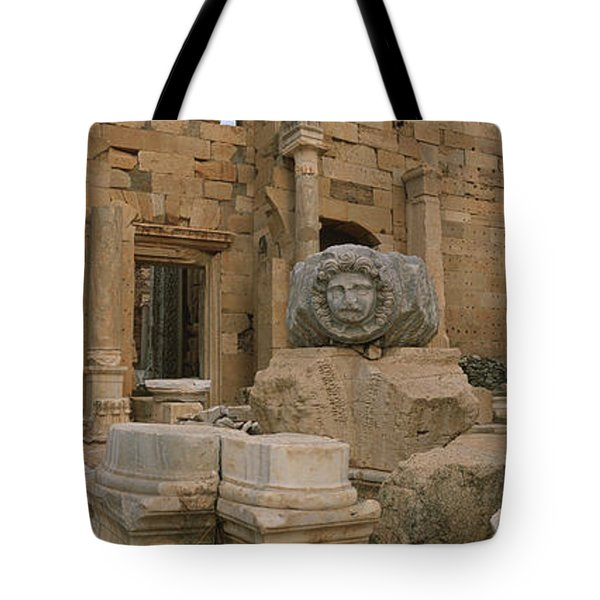 Close-up Of Statues In An Old Ruined Tote Bag