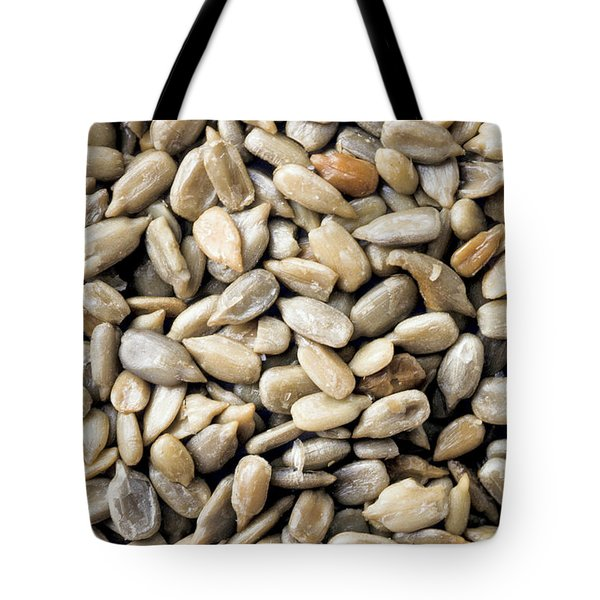 Close-up Of Sunflower Seeds Tote Bag