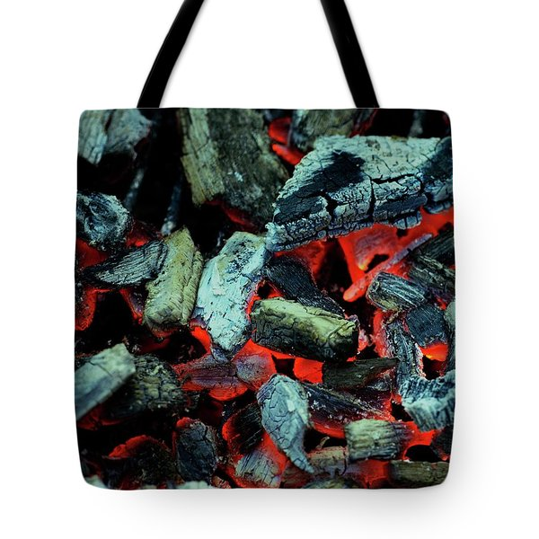 Close-up View Of Charcoal Tote Bag
