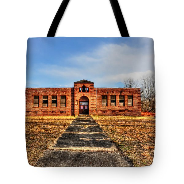 Closed School In Small Town Wv Tote Bag by Dan Friend