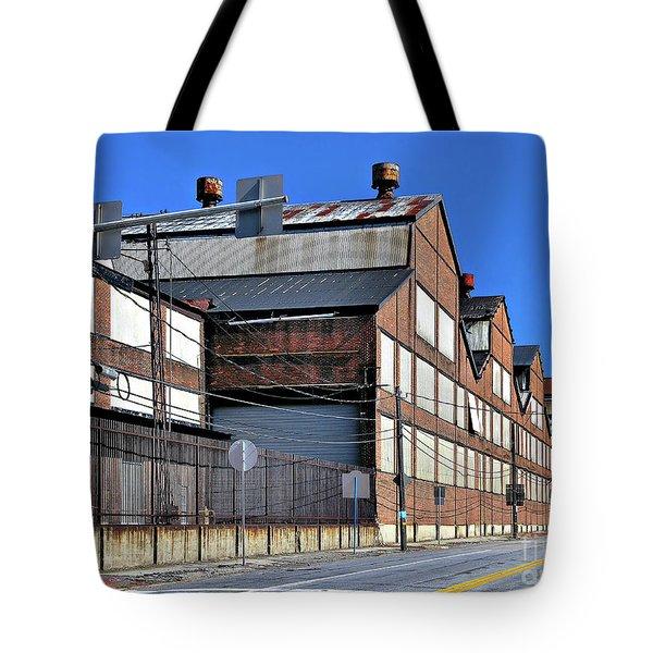 Closed Steel Mill Tote Bag