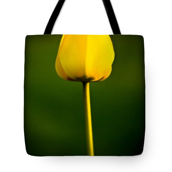 Closed Yellow Flower Tote Bag