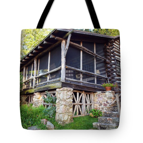 Closer View Of The Cabin Tote Bag by Robert Margetts