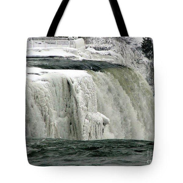 Closeup Of Icy Niagara Falls Tote Bag