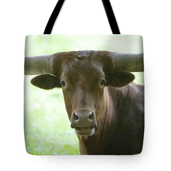 Closeup Texas Longhorn Tote Bag by Rich Collins