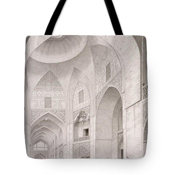 Cloth Market In Isfahan Tote Bag
