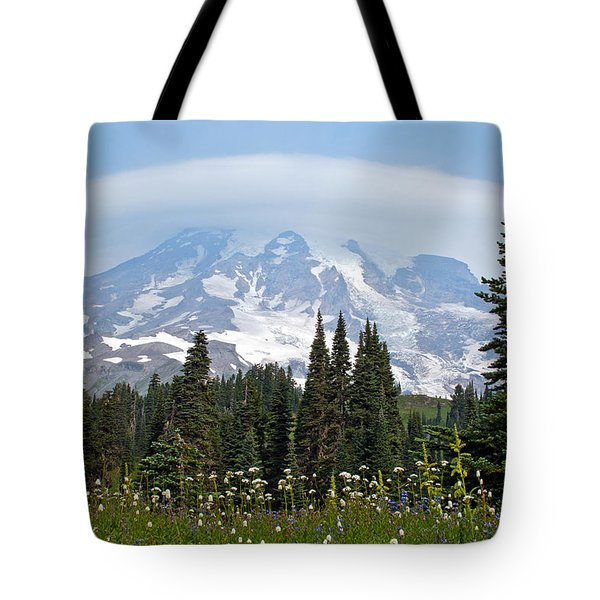 Cloud Capped Rainier Tote Bag by Tikvah's Hope