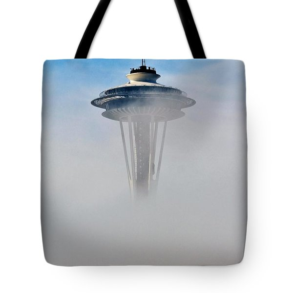 Cloud City Needle Tote Bag by Benjamin Yeager