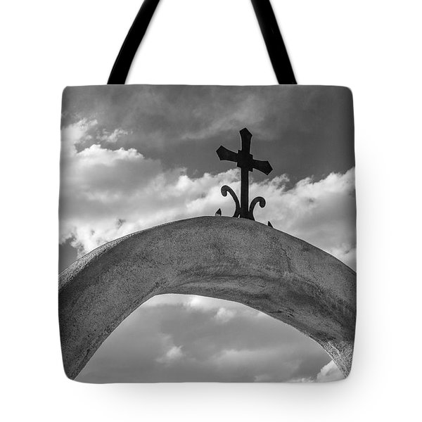 Cloud Cross Tote Bag by Steven Bateson