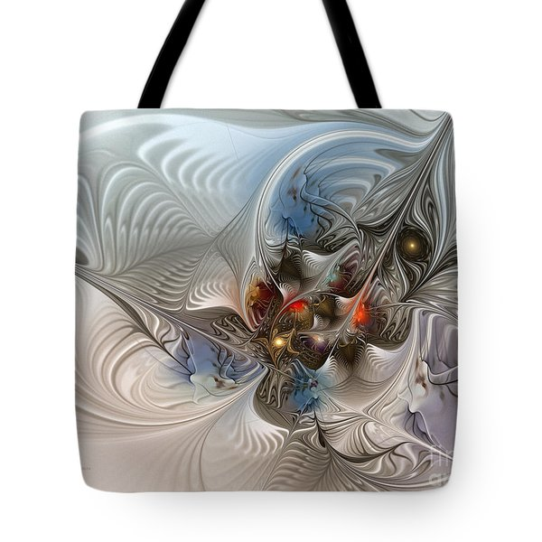 Cloud Cuckoo Land-fractal Art Tote Bag by Karin Kuhlmann