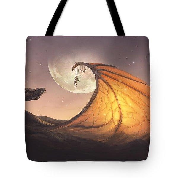 Cloud Dragon Tote Bag