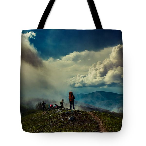 Tote Bag featuring the photograph Cloud Factory by Dmytro Korol