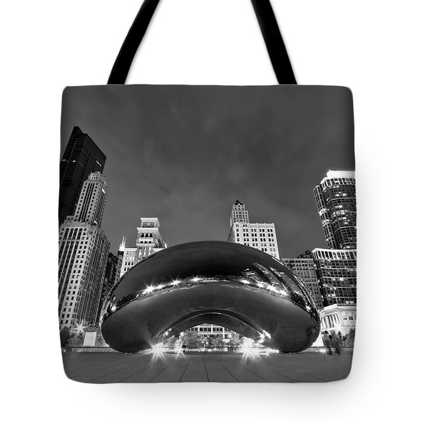 Cloud Gate And Skyline Tote Bag by Adam Romanowicz
