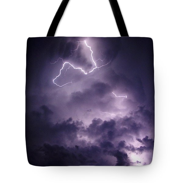 Tote Bag featuring the photograph Cloud Lightning by James Peterson