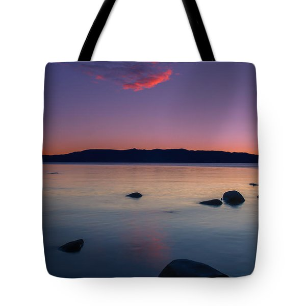 Cloud Reflection Before Sunrise Tote Bag