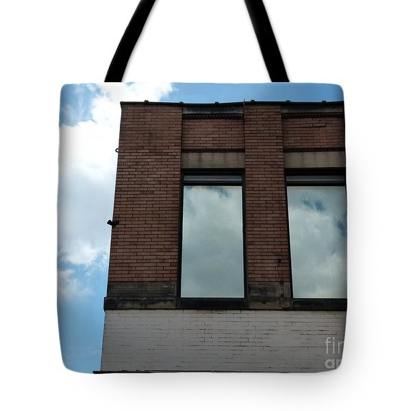Cloud Reflection On Window Tote Bag