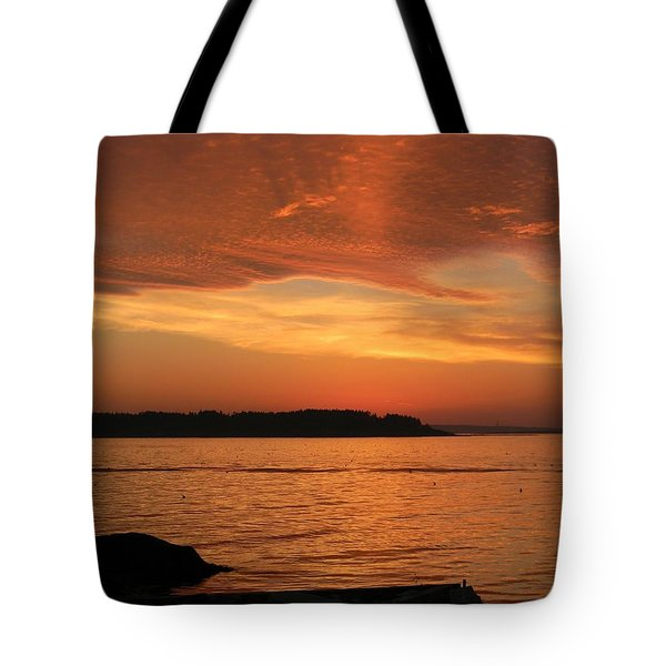 Cloud Shadows Tote Bag by Jean Goodwin Brooks