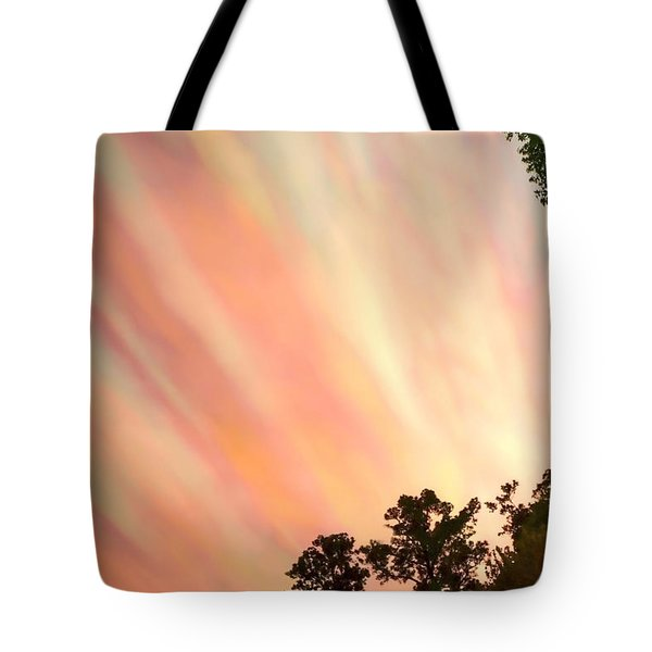 Tote Bag featuring the photograph Cloud Streams by Charlotte Schafer