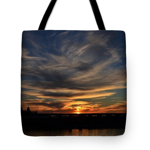 Cloud Swirl Sunset Tote Bag