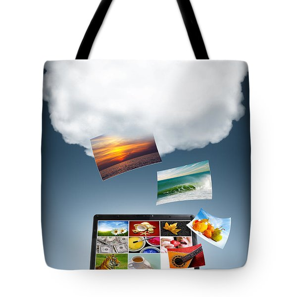 Cloud Technology Tote Bag by Carlos Caetano