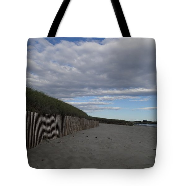 Clouded Beach Tote Bag