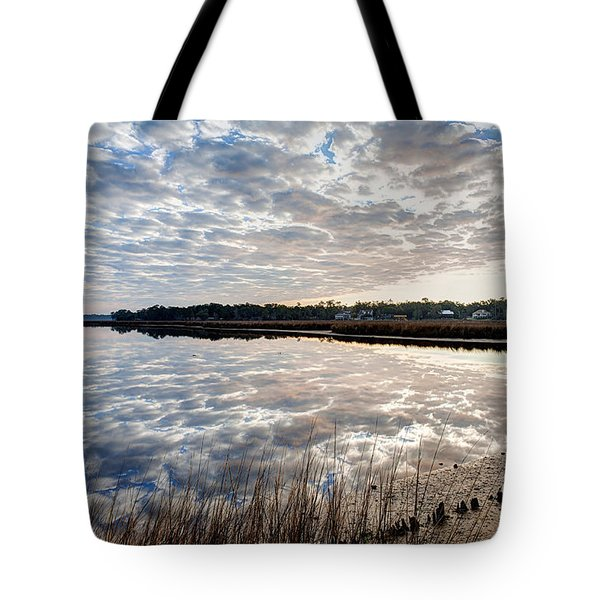 Clouded Reflection Tote Bag by Joan McCool