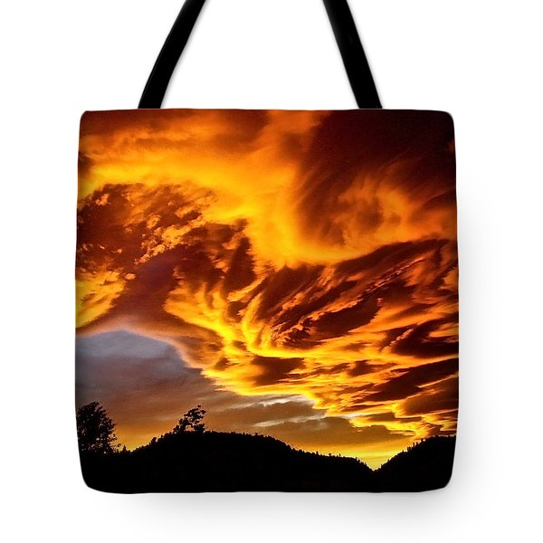 Tote Bag featuring the photograph Clouds 2 by Pamela Cooper