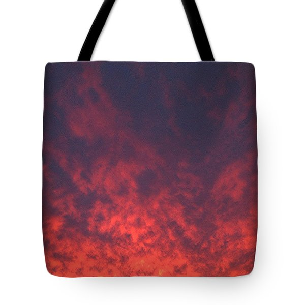 Clouds Ablaze Tote Bag