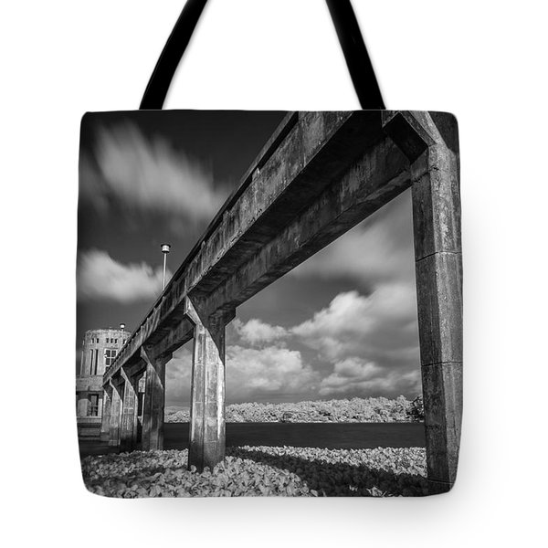 Clouds Above The Bridge Tote Bag