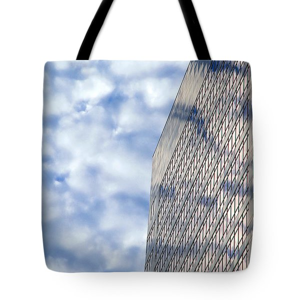 Clouds And Office Building Tote Bag