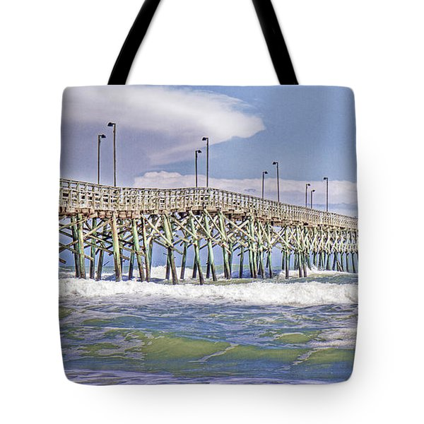 Clouds And Waves Tote Bag