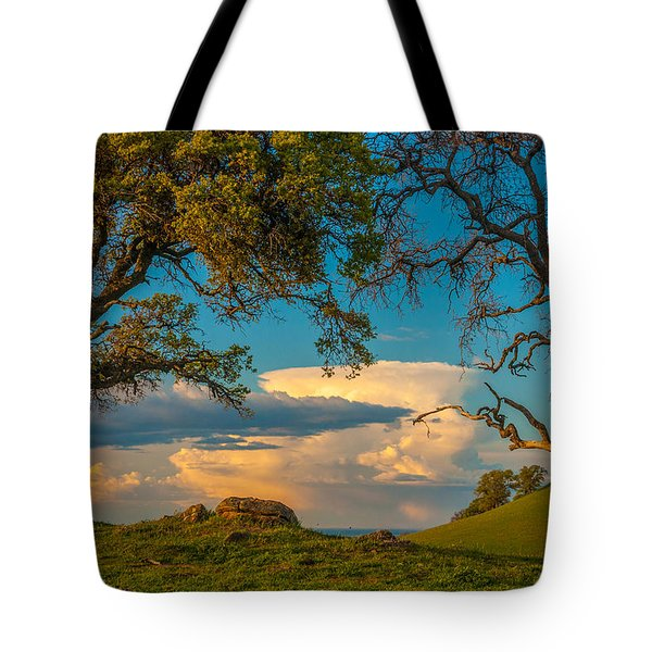 Clouds Between Trees Tote Bag