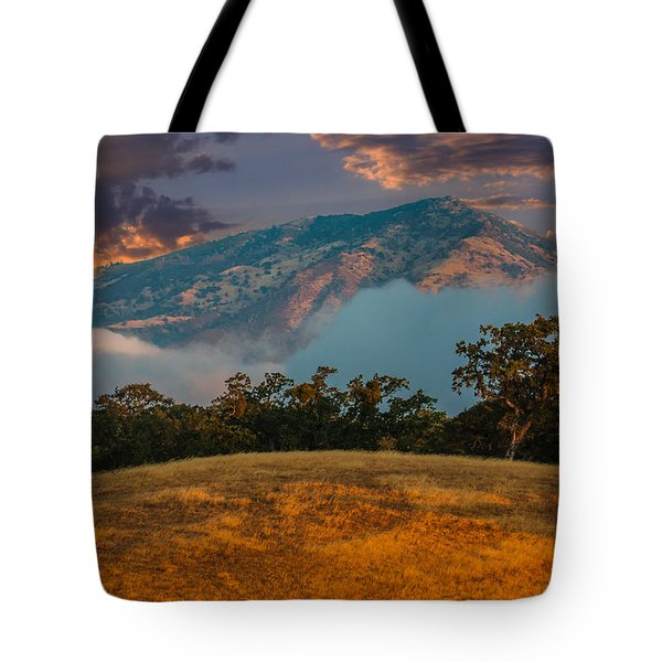 Clouds Fog And Mt Diablo Tote Bag by Marc Crumpler