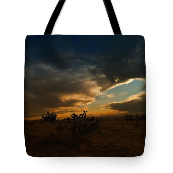 Clouds In New Mexico Tote Bag by Jeff Swan