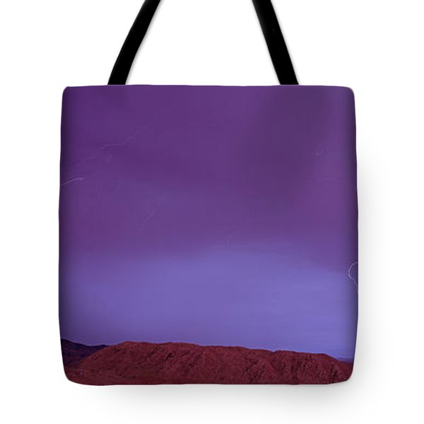 Clouds Lightning Over The Mountains, Mt Tote Bag