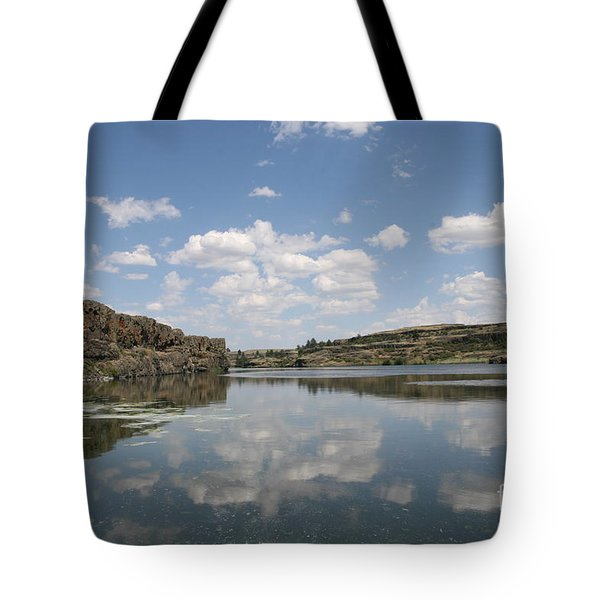 Clouds On Water Tote Bag by Rich Collins