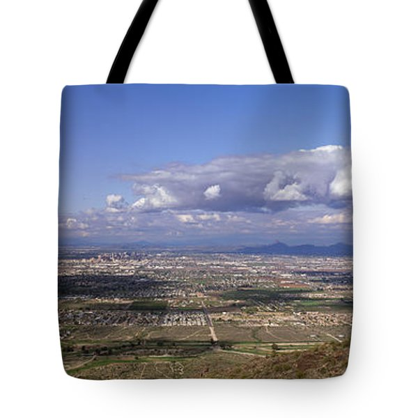 Clouds Over A Landscape, South Mountain Tote Bag